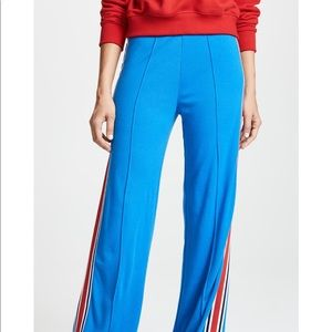 Tory Striped Knit Wide Leg Track Pants